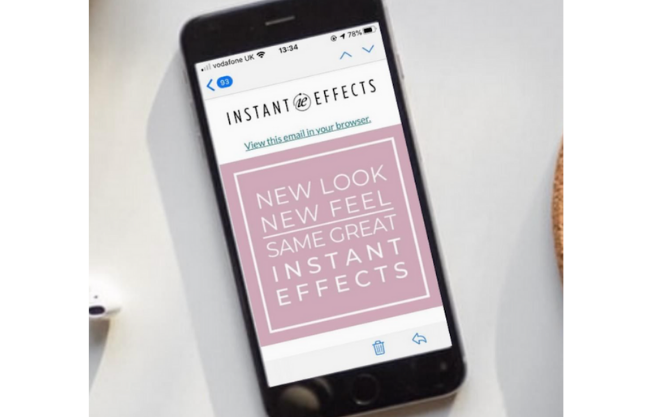 Instant Effects email newsletter