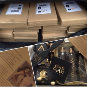 Gold Class Hair PR Journo Box